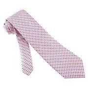 Neat silk tie with pink and grey colors