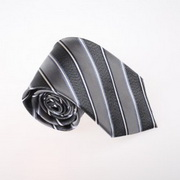 Grey Stripes Necktie