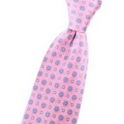 Tie with floral pink pattern